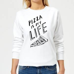 Rock On Ruby Pizza Is My Life Women's Sweatshirt - White