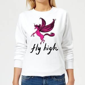 Rock On Ruby Fly High Women's Sweatshirt - White