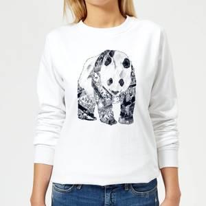 Tobias Fonseca Tattooed Panda Women's Sweatshirt - White