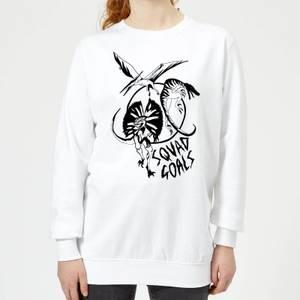 Rock On Ruby Dinosaur Squad Goals Women's Sweatshirt - White