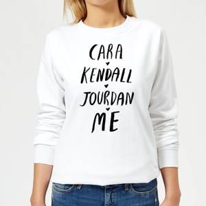 Rock On Ruby Cara Kendall Jourdan Me Women's Sweatshirt - White