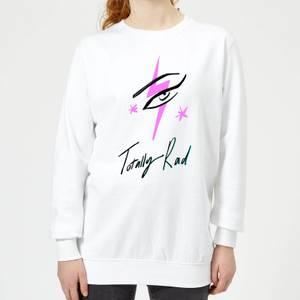 Rock On Ruby Totally Rad Women's Sweatshirt - White
