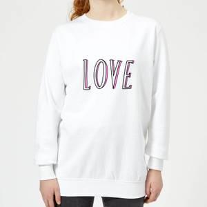 Rock On Ruby Love Women's Sweatshirt - White