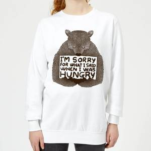 Tobias Fonseca Sorry for What I Said When I Was Hungry Women's Sweatshirt - White