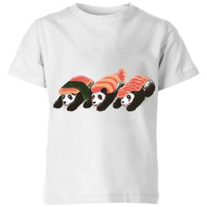 Tobias Fonseca Panda Sushi Kids' T-Shirt - White