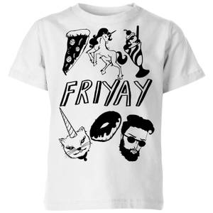 Rock On Ruby Friyay Kids' T-Shirt - White