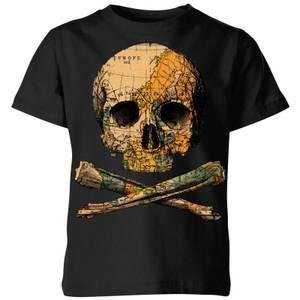Tobias Fonseca Treasure Map Kids' T-Shirt - Black