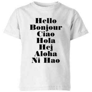 PlanetA444 Hello Kids' T-Shirt - White