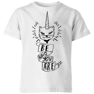 Rock On Ruby Be Who You Are Kids' T-Shirt - White