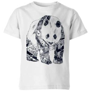 Tobias Fonseca Tattooed Panda Kids' T-Shirt - White