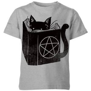 Tobias Fonseca Satanicat Kids' T-Shirt - Grey