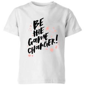 PlanetA444 Be The Game Changer Kids' T-Shirt - White