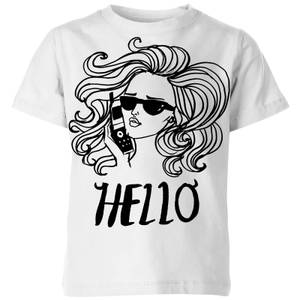 Rock On Ruby Hello Kids' T-Shirt - White