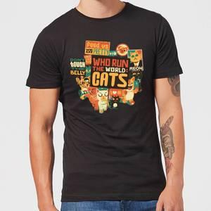 Tobias Fonseca Who Run The World? Cats. Men's T-Shirt - Black