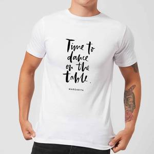PlanetA444 Time To Dance On The Tables Men's T-Shirt - White