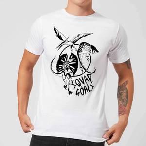 Rock On Ruby Dinosaur Squad Goals Men's T-Shirt - White