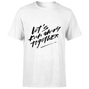 PlanetA444 Let' Run Away Together Men's T-Shirt - White