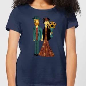 Love Is Art - Frida Kahlo and Van Gogh Women's T-Shirt - Navy