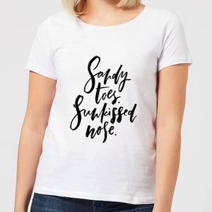 Sandy Toes, Sunkissed Nose Women's T-Shirt - White