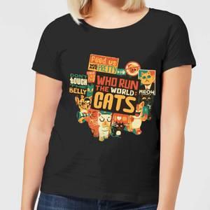 Who Run The World? Cats. Women's T-Shirt - Black