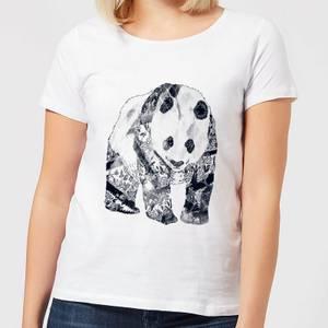 Tattooed Panda Women's T-Shirt - White