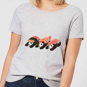 Panda Sushi Women's T-Shirt - Grey