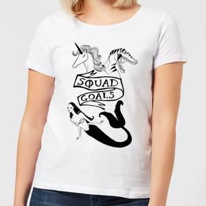Mermaid, Unicorn and Dinosaur Squad Goals Women's T-Shirt - White
