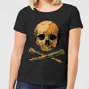 Treasure Map Women's T-Shirt - Black