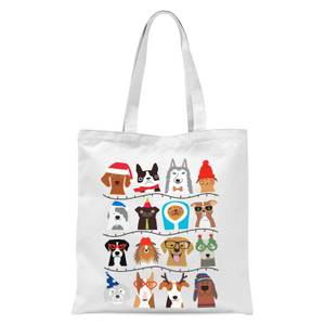 Merry Dogmas Tote Bag - White