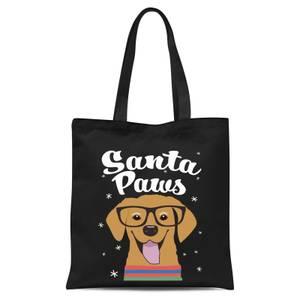 Santa Paws Tote Bag - Black