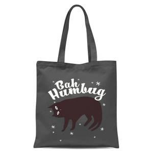 Bah Humbug Tote Bag - Grey
