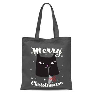 Merry Christmouse Tote Bag - Grey