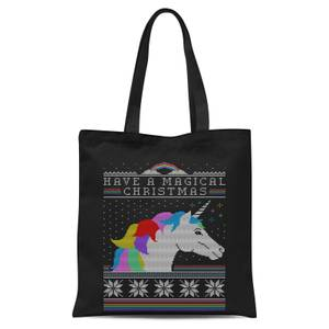 Have A Magical Christmas Fair Isle Tote Bag - Black