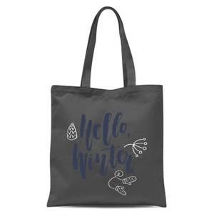Hello Winter Tote Bag - Grey