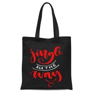 Jingle All The Way Tote Bag - Black