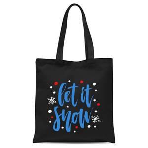 Let It Snow Tote Bag - Black