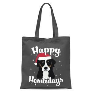 Happy Howlidays Tote Bag - Grey