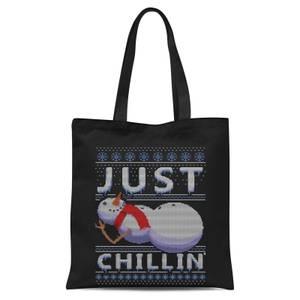 Just Chillin Tote Bag - Black