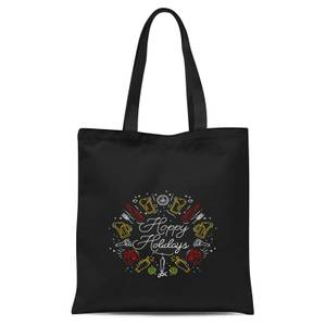 Hoppy Holidays Tote Bag - Black