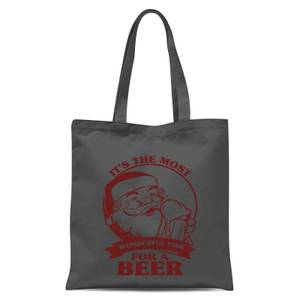The Most Wonderful Time for A Beer Tote Bag - Grey