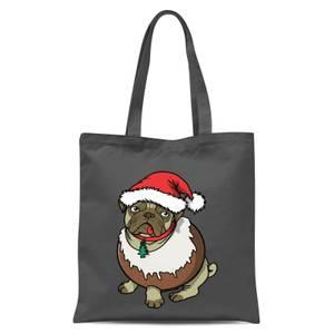 Christmas Puggin Tote Bag - Grey