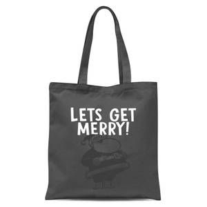Lets Be Merry Tote Bag - Grey