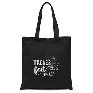 Frohes Fest Tote Bag - Black