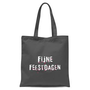 Fijne Feestdagen Tote Bag - Grey