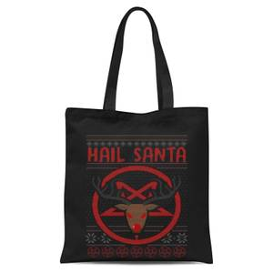Hail Santa Tote Bag - Black