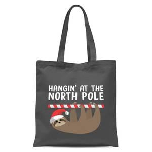 Hangin' At The North Pole Tote Bag - Grey