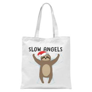 Slow Angels Tote Bag - White