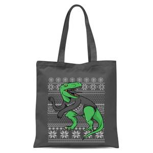 T-Rex Sleeves Tote Bag - Grey
