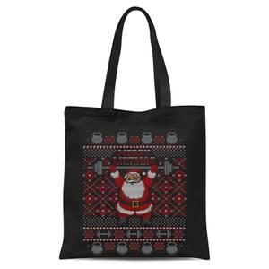 Merry Liftmas Tote Bag - Black