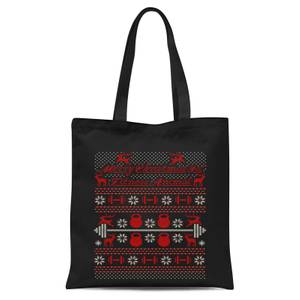 Merry Christmas Ya' Fitness Animal Tote Bag - Black